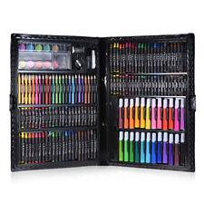 168pc Deluxe Art Set für Kinder mit Fall Farbe Marker Bleistifte Buntstifte E1Z2