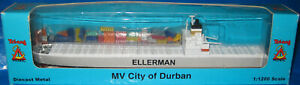 GB Containerschiff CITY OF DURBAN, Triang P 622, Metall, 1:1250, OVP