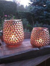 """Windlicht """"Edel S"""" gold Tischdeko VintageTeelichthalter Kerzenhalter Landhaus"""