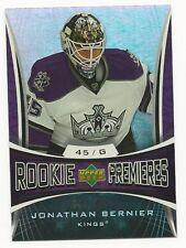 Jonathan Bernier 2007/08 Upper Deck Trilogy Rookie Card # 149, # 999/999