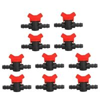 Plastic Connector Water Hose Pipe Tap Drip Irrigation Barb Ball Valve Garden