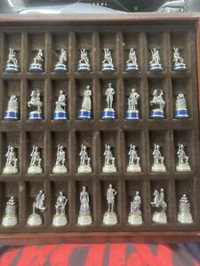 Franklin Mint 1983 Pewter/Brass Civil War Chess Set