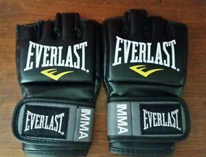 Everlast Pro Style Black Unisex MMA Gloves!! Size S/M!!