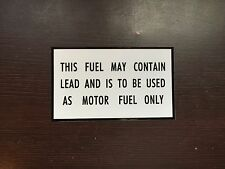 Ampol lead warning - small - vinyl decal for petrol bowser collectors