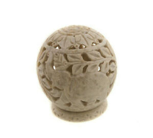 Fat Candle Tealight IN Stone Elephants Peterandclo India 7625