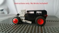 Custom Lego Instructions Hot Rod Rat Rod Model A Sedan 28 29 30 31 Ford