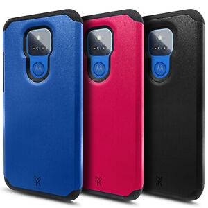 For Motorola Moto g PLAY (2021) Case Dual Layer Shockproof Rugged Bumper Cover