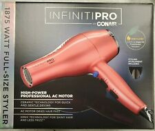 InfinitiPro Conair 1875W Blow Dryer Salon Professional Styling Tool Pink / Coral