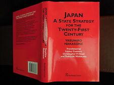 YASUHIRO NAKASONE: JAPAN -- A STATE STRATEGY for 21st CENTURY/RARE 2002, $200+