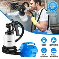 800ML HVLP Paint Sprayer Handheld 650W Electric Spray Gun Machine Home DIY Tool