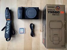 Sony Alpha A6300 24.2MP Digital Camera - Black (Body Only) W/ Neewer TT560 Flash