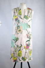 P353/73 H&M Conscious Collection Lyocell/Cotton Floral Sleeveless Dress UK8/10