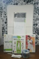 Nintendo Wii Fit Balance Board Bundle With Wii Fit, Wii Fit Plus, Wii Active
