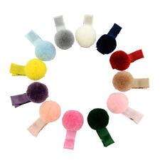 Pack of (x12) Hair Pin Clip Pom poms Pompoms Balls Decor Alligator Headwear