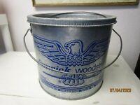 Vintage FENWICK WOODSTREAM Galvanized Minnow Bucket 2 Pieces Eagle Logo Fishing