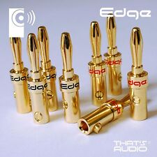 8 x Hi-Fi Banana PlugS (4mm Gold Plated Plug for Speaker & Amplifier cable) BP1