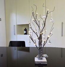 60cm Mini USB Batería LED de árbol de Navidad plomo y 10 acrílicos, Navidad Decoración Salón