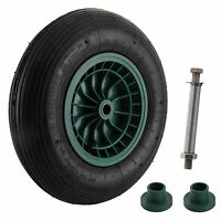 """14"""" Wheelbarrow Wheel Pneumatic Inflatable Tyre 4.30/4.00-8 with Axle Fittings"""