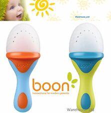 Boon Baby Fresh Food Feeder Teething PULP Silicone Green/Blue or Orange/Blue