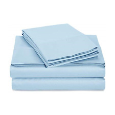 Signet by Baltic Linen 1000 Tc Rich Easy Care Sheet Set, Queen - Light Blue