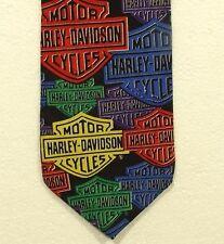 "vintage Ralph Marlin HARLEY-DAVIDSON neck tie width 3.5"""