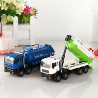 1:50 Scale Diecast Vacuum Sewage Waste Water Suction Truck Model Toy Christmas