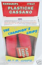 nos rare vintage PLASTICHE CASSANO The Champions Grips mtb grips pink old school