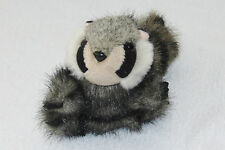 """Folkmanis Raccoon Racoon Small Mini Plush Baby Folktails Finger Puppet Toy 4.5"""""""