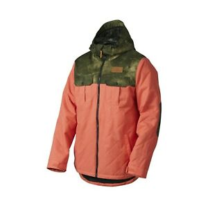 Oakley Cedar Ridge Biozone Insulated Ski Snowboard Jacket Orange RRP 275,95$