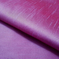 15 YARD LOT LILAC RED FAUX SILK DUPIONI FABRIC TWO TONE IRREDESCENT 60""