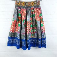 Flying Tomato Women's Size S Mixed Print Short Flirty Skater Skirt Boho