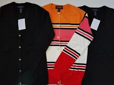 Lands End Womens XXS 00-0 Petite Sweater Cardigan Top Crew and V Neck Lot of 3