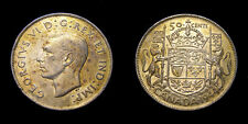 Canada 1944 Fifty 50 Cent Piece King George VI Gold Toning VF+