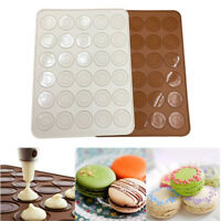 Silicone Macaron Macaroon Oven Baking Mould 30 Moulds Non Stick DIY Baking Mat
