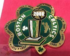 BOSTON CELTICS 17X NBA BASKETBALL CHAMPIONS SHAMROCK PIN