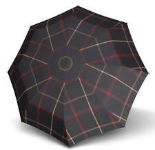 Doppler Carbon Steel Karo Folding Umbrella - Navy Check