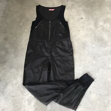 Wish Black Satin Sleeveless Jump Suit Jumpsuit Size 8
