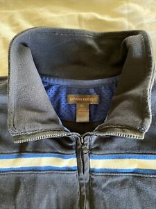 Mens Banana Republic Half Zip Blue XL