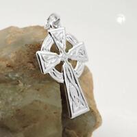 Kelten Kreuz Anhänger Silber Wikinger Gothic Schmuck NEU