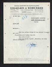 """CAEN (14) OUTILLAGE / GRAND COMPTOIR QUINCAILLERIE """"LEGALLAIS & BOUCHARD"""" 1950"""