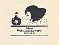 Uralt Lavendel Wasser Parfum Lohse Berlin Dame Orig. Reklame 1924 Parfümerie