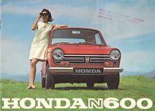 Honda N600 1968-69 Reino Unido y folleto de ventas del mercado australiano