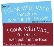 French Cottage Stencil Cook With Wine Food Kitchen Cafe Chef Shabby Sign U Paint