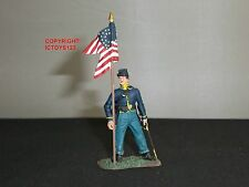 BRITAINS 31071 AMERICAN UNION CAVALRY GUIDON BEARER METAL TOY SOLDIER FIGURE