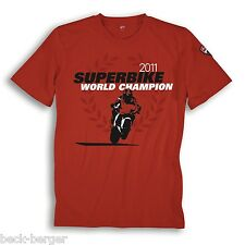 Ducati Corse SBK Superbike World Celebration T-Shirt 2011 Checa Limited Red New