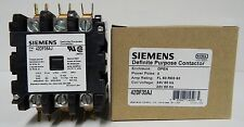 NEW Siemens 42DF35AJ Furnas Definite Purpose Contactor class 42 50amp 24vAC coil
