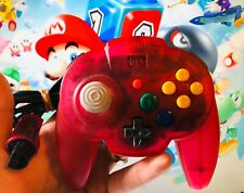 *OFFICIAL* Watermelon Red Clear Hori Mini Pad Wired Controller Nintendo 64 N64