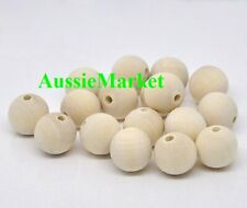20 x wooden wood beads balls premium quality 18mm raw natural craft dreamcatcher
