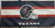 "NFL HOUSTON TEXANS 53X26"" BANNER NEW IN PKG. FREE S&H M8"