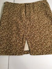 RALPH LAUREN TAPESTRY FLORAL Corduroy STRETCH Skirt Women's sz 10 EUC